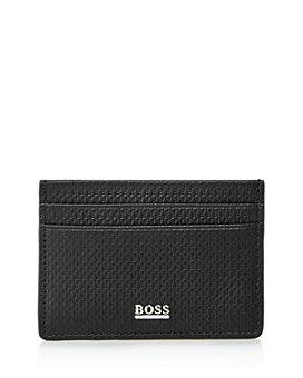 BOSS Hugo Boss - Monogram-Embossed Leather Card Case