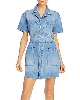 Pistola - Clara Field Suit Jean Dress in Bright Blue