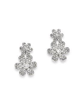 Bloomingdale's - Diamond Flower Cluster Drop Earrings in 14K White Gold, 0.58 ct. t.w. - 100% Exclusive