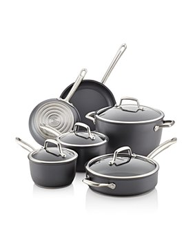 Anolon - Accolade Hard-Anodized Precision Forge Cookware Set, 10-Piece, Moonstone