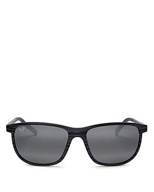 Maui Jim Unisex Dragons Teeth Polarized Square Sunglasses, 58mm