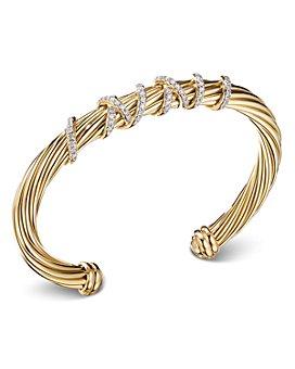 David Yurman - Helena Center Station Bracelet with 18K Yellow Gold and Diamonds