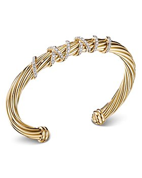 David Yurman - Helena Center Station Bracelet with 18K Yellow Gold and Diamonds