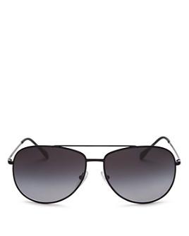 Prada - Men's Polarized Brow Bar Aviator Sunglasses, 61mm