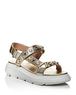Stuart Weitzman - Women's Zoelie Crystal Embellished Platform Sandals