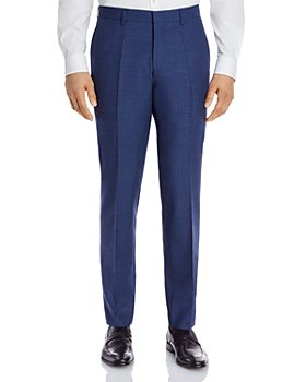 BOSS - Genius Textured Solid Slim Fit Dress Pants