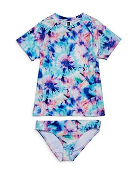 Splendid - Girls' Brighter Printed Two-Piece Rash Guard Swimsuit - Little Kid, Big Kid