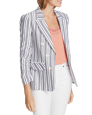 Image of 1.state Cotton Canvas Striped Blazer