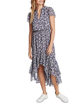 1.STATE - Wildflower Bouquet High/Low Flounce Dress