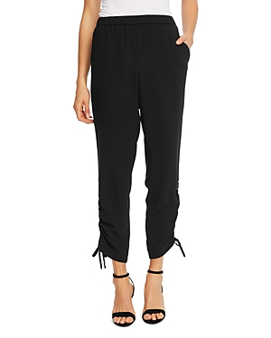 CeCe Solid Ruched-Ankle Pants-Women