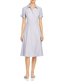 T Tahari - Striped Shirt Dress