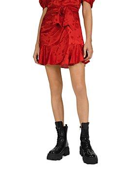 The Kooples - Mandarine Jacquard Skirt