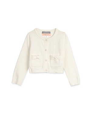 Pippa & Julie Girls\\\' Cotton Bow-Pocket Button Cardigan - Baby-Kids