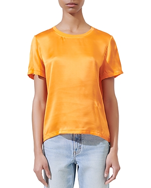 Maje TIFFANY SILK & COTTON TEE