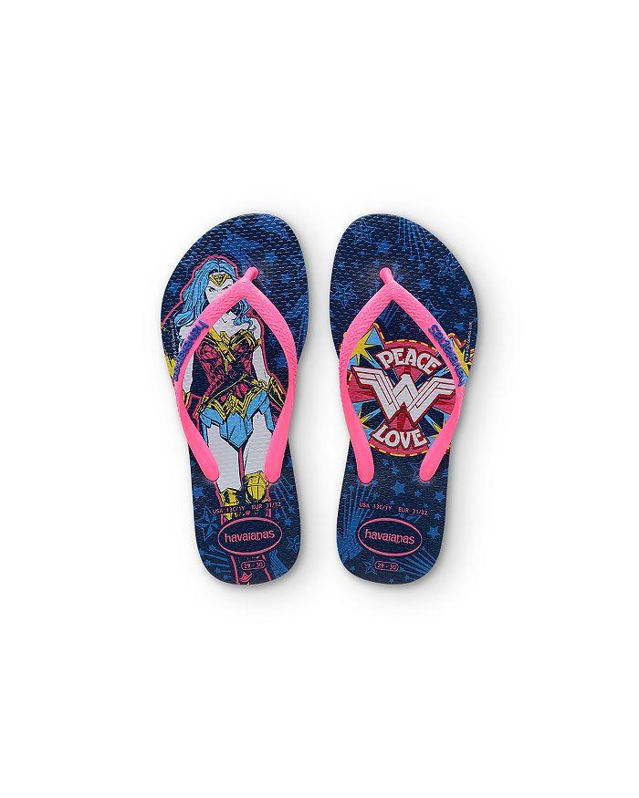 havaianas - Girls' Wonder Woman Flip Flops - Toddler,