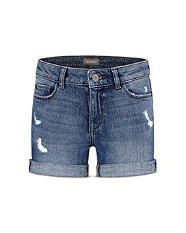 DL1961 - Girls' Cotton-Blend Piper Distressed Cuffed Denim Shorts - Big Kid