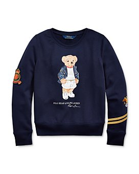 Ralph Lauren - Girls' French Terry Polo Bear Top - Big Kid
