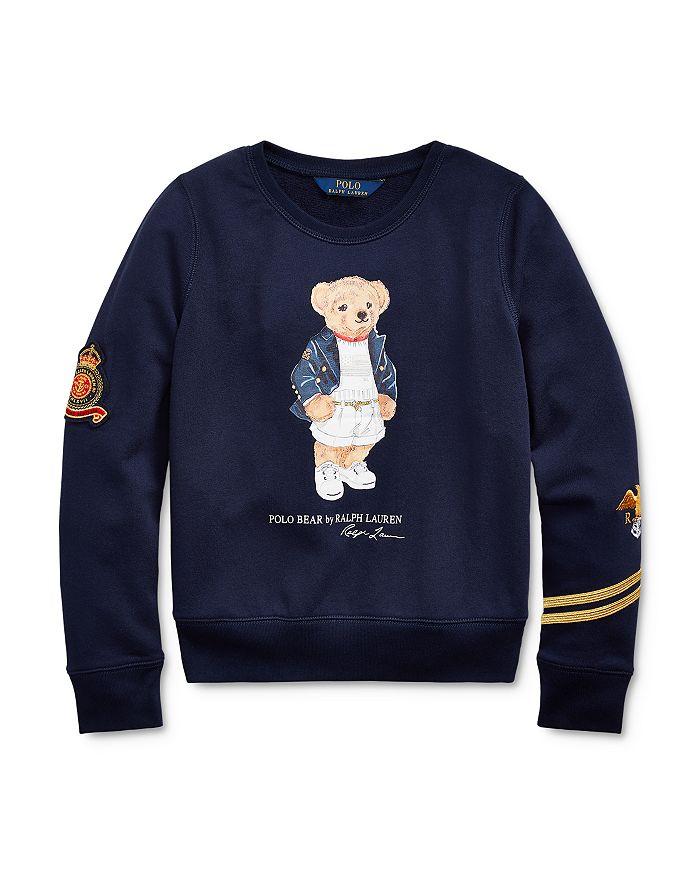 Ralph Lauren - Girls' French Terry Polo Bear Top - Big Kid