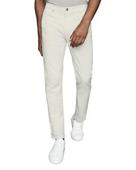 REISS - Etna Plaid Ecru Tapered Slim-Fit Jeans
