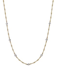 "Roberto Coin 18K Yellow and White Gold Diamond Station Necklace, 16"" - Bloomingdale's_0"