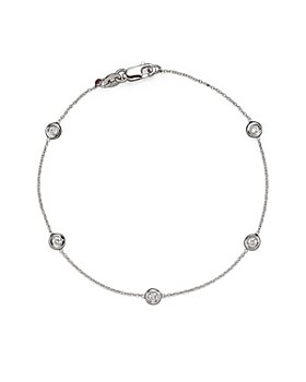 Roberto Coin - Roberto Coin 18K White Gold Bezel Diamond Bracelet