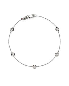 Roberto Coin - Roberto Coin 18 Kt. White Gold Bezel-Set Diamond Bracelet