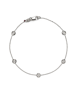 Roberto Coin 18 Kt. White Gold Bezel-Set Diamond Bracelet