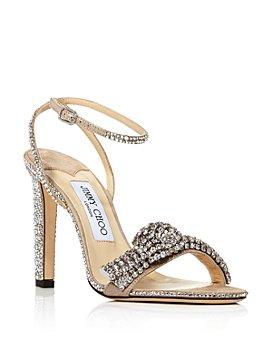 Jimmy Choo - Women's Thyra 100 High-Heel XCK Embellished Sandals