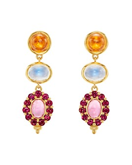 Temple St. Clair - 18K Yellow Gold Color Theory Multi-Gemstone Drop Earrings