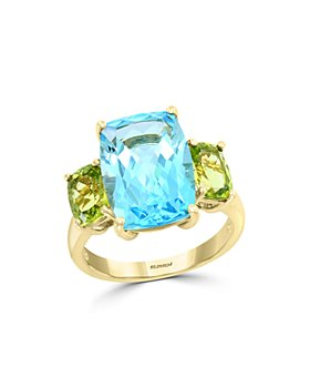 Bloomingdale's - Blue Topaz & Peridot Ring in 14K Yellow Gold - 100% Exclusive