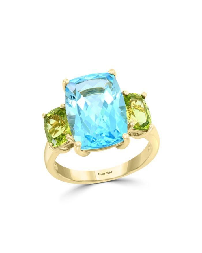 Bloomingdale's Blue Topaz & Peridot Ring in 14K Yellow Gold - 100% Exclusive    Bloomingdale's