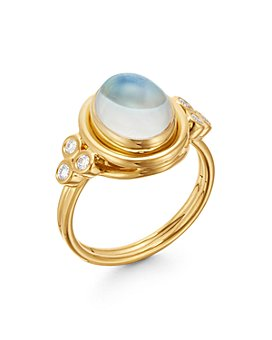 Temple St. Clair - 18K Yellow Gold Classic Moonstone & Diamond Ring