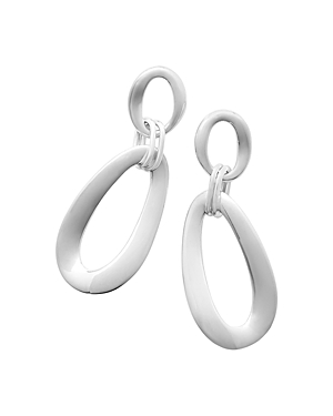 Ippolita Sterling Silver 925 Classico Elongated Hoop Drop Earrings-Jewelry & Accessories