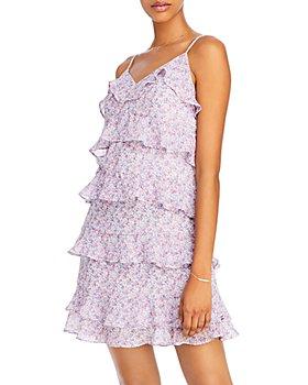 AQUA - Floral Ruffled Dress - 100% Exclusive