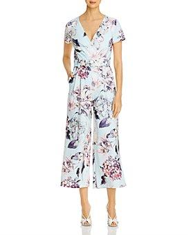 KARL LAGERFELD PARIS - Belted Floral Print Jumpsuit