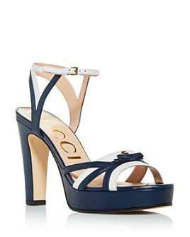 Gucci - Leather Platform Sandals