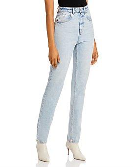alexanderwang.t - High-Waist Slim Straight-Leg Jeans