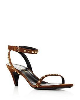Saint Laurent - Women's Kiki Studded Strap Mid-Heel Sandals