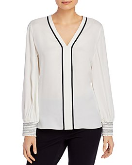 Elie Tahari - Kinsley Contrast-Trim Silk Shirt