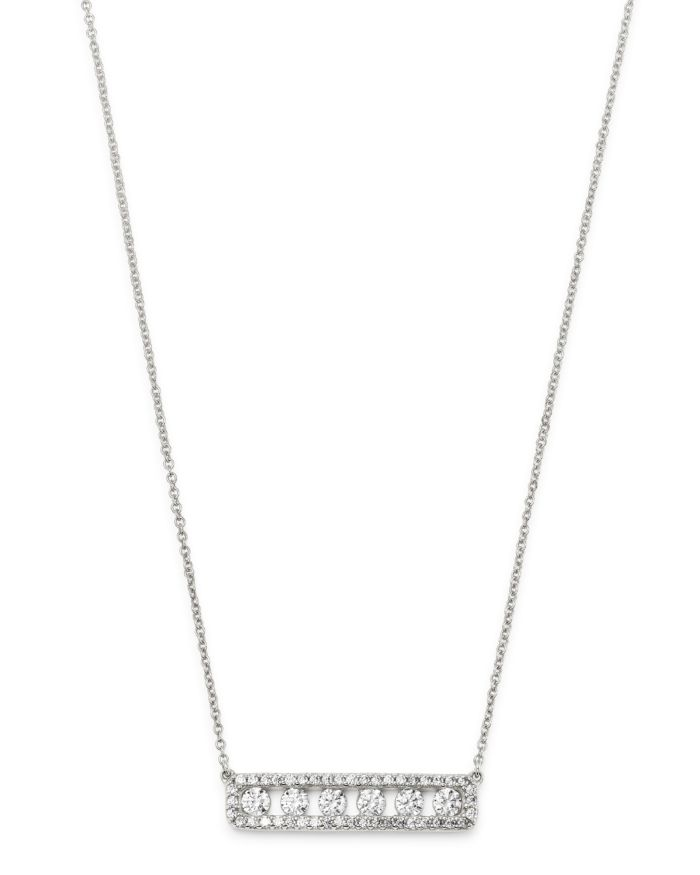 """Bloomingdale's Diamond Bar Necklace in 14K White Gold, 18.5"""" - 100% Exclusive    Bloomingdale's"""