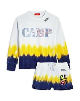 Butter - Girls' Dip-Dyed Camp Sweatshirt & Shorts - Big Kid