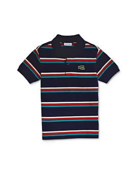 Lacoste - Boys' Cotton Striped Polo - Little Kid, Big Kid