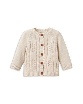 Elegant Baby - Girls' Leaf Cable Cardigan - Baby