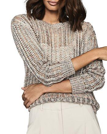 REISS - Polly Space-Dye Open-Knit Sweater