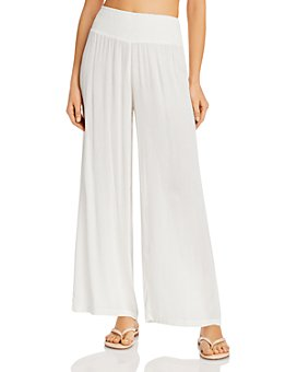 Ralph Lauren - Smocked-Waist Swim Cover-Up Pants