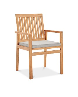 Modway - Farmstay Outdoor Patio Teak Wood Dining Armchair