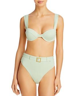 WeWoreWhat - Claudia Underwire Bikini Top & Emily Belted High-Waist Bikini Bottom