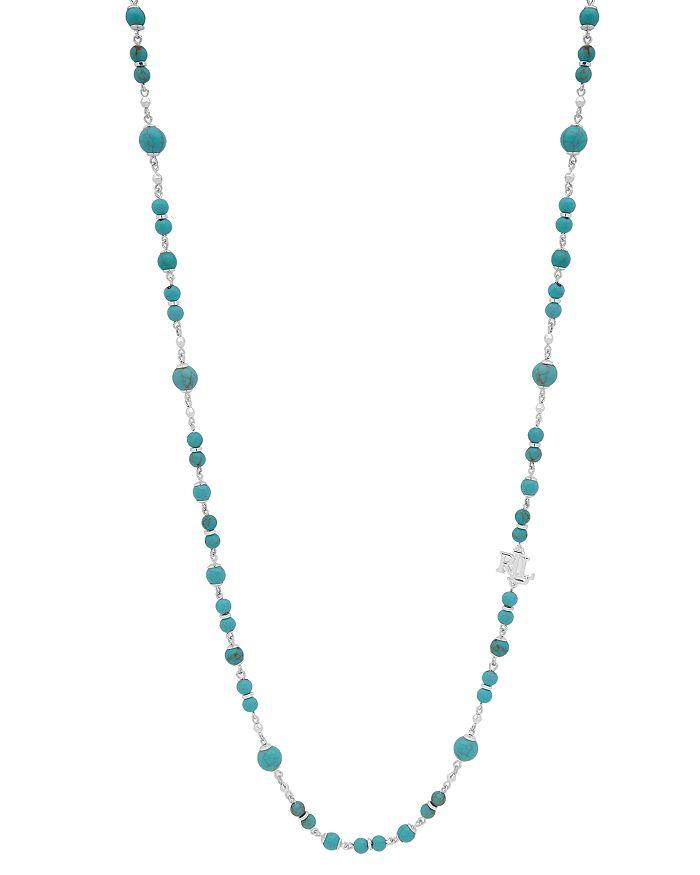 "Ralph Lauren - Logo Charm Beaded Strand Necklace, 42"""