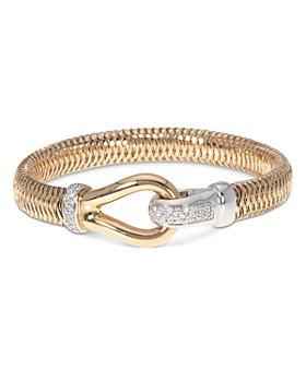 Roberto Coin - 18K White Gold & 18K Rose Gold Primavera Diamond Bracelet