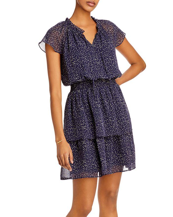 AQUA - Smocked Tiered Mini Dress - 100% Exclusive